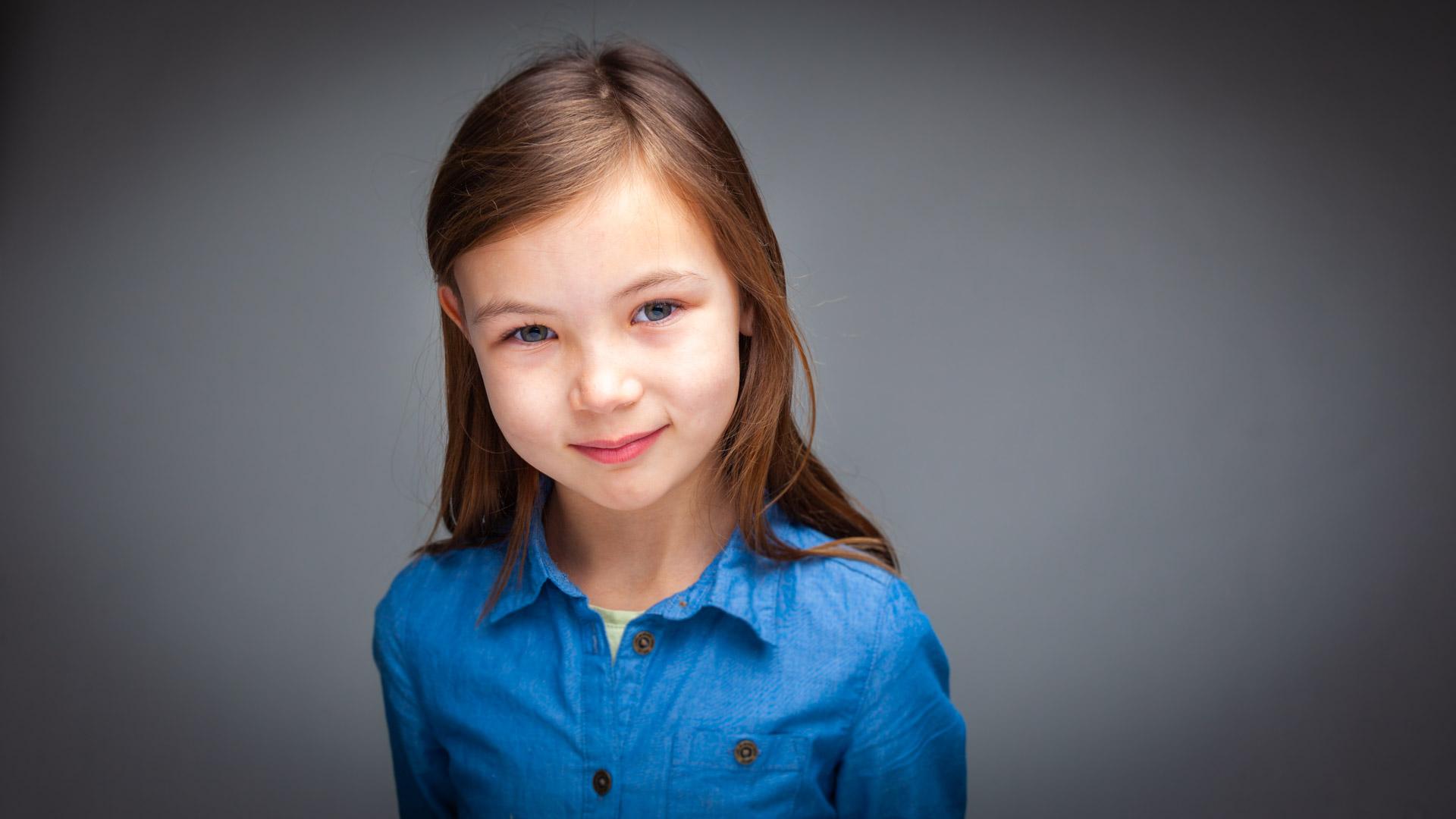 Barne Portrett Jente på 7 år