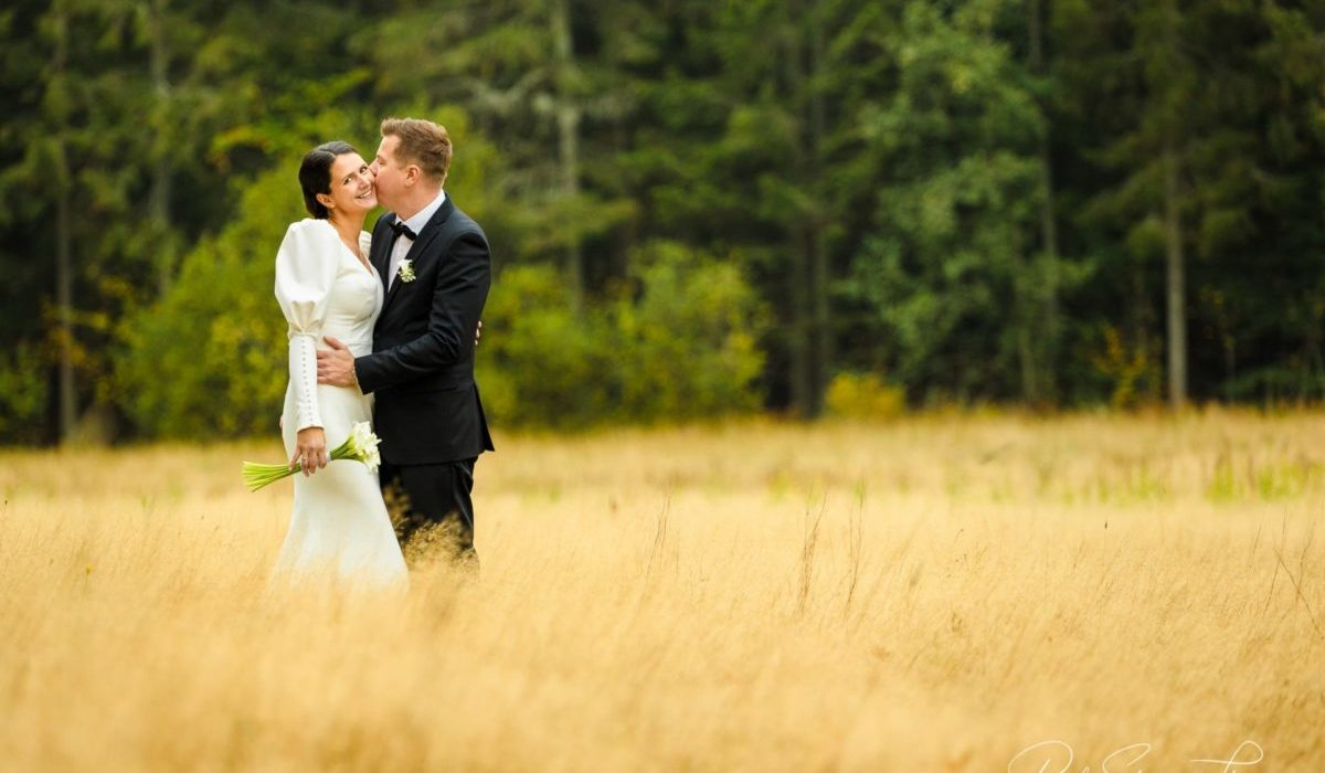 Bryllupsfotografering ute Ida og Ken