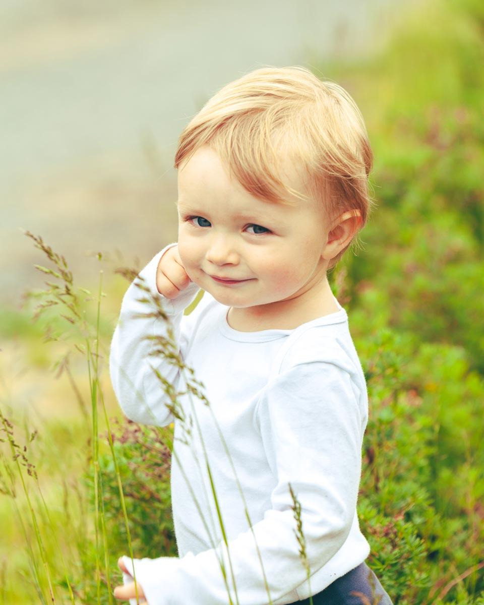 Barnefotografering ute